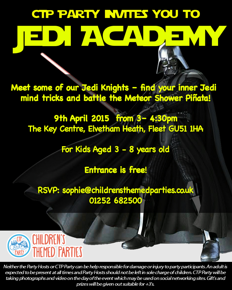 Jedi Academy Invitation