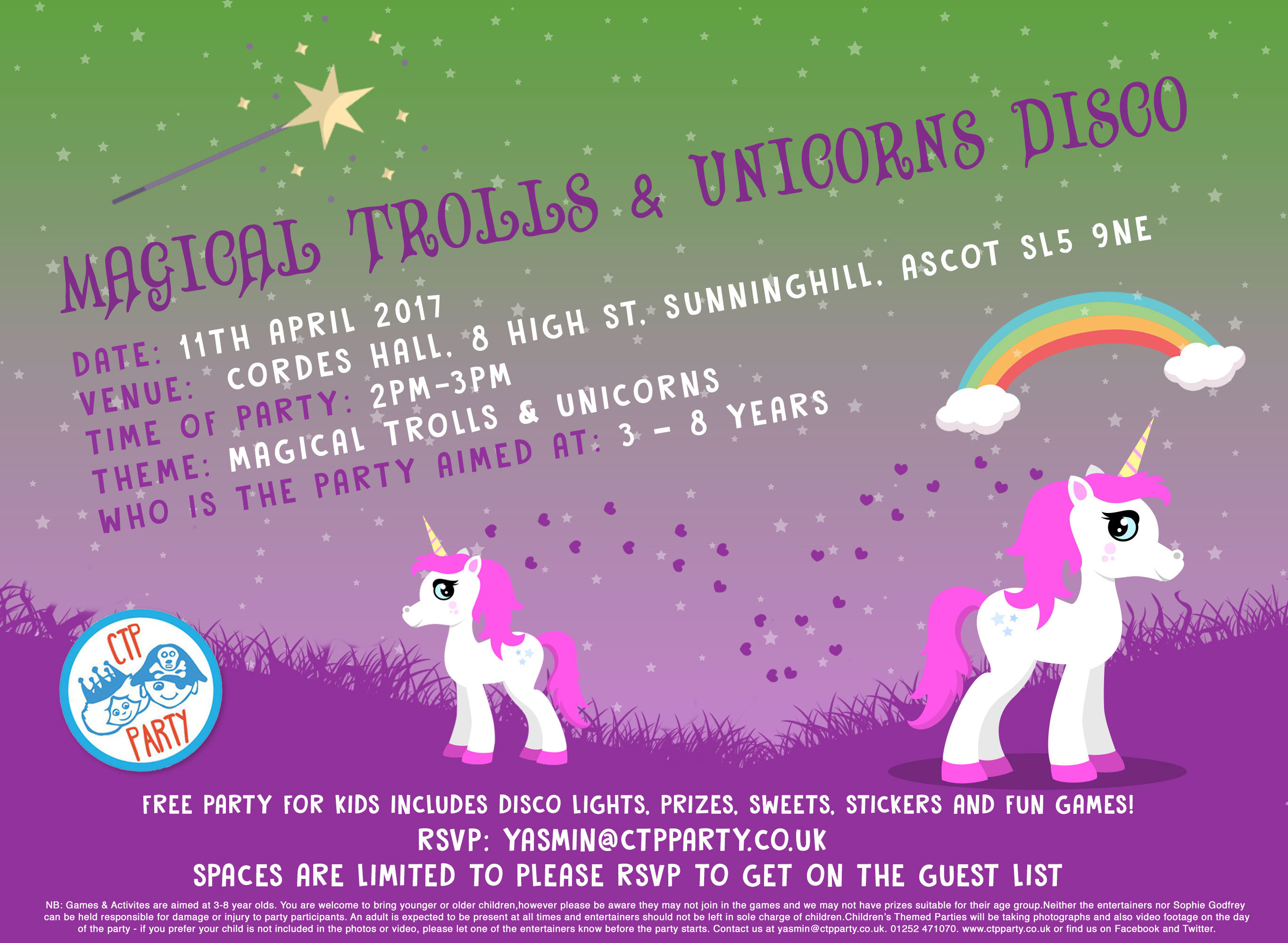 Magical Trolls & Unicorn Party with CTP Party
