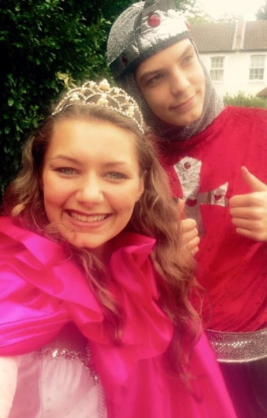 Princess & Knight Selfie